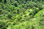 Uitzicht op camping Baume-Les-Messieurs