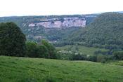 Uitzicht op Baume-Les-Messieurs