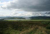 Uitzicht op Lough Foyle en Lough Swilly