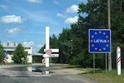Grensovergang naar Letland