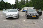 Klaar om de Zweedse Opel weer in te leveren
