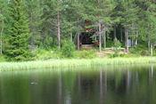 Grilplaats aan meer