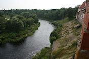 Uitzicht vanaf Bauskas Pils