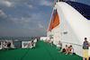 Aan dek van de Baltic Queen na vertrek uit Tallinn