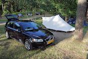 Terug op de camping nu met de Volvo