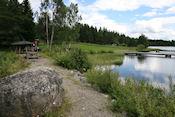 Picknickplaats bij meer