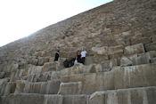 Op en in de piramide van Cheops