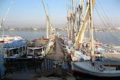 Op weg naar onze eerste overtocht over de Nijl bij Luxor