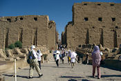 Karnak/ grote tempel van Amon, eerste pyloon