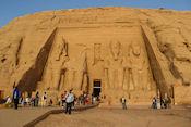 De grote tempel in Abu Simbel