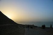 Het Nasser meer bij zonsopgang