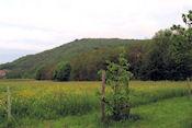 De heuvel gezien vanaf de camping