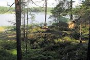 Cachelocatie in Björnnäsets naturreservat