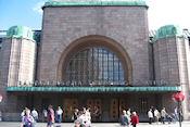 Zijaanzicht Station Helsinki