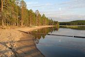 Strand bij camping Metsäkarto