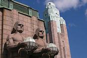 Detail vooraanzicht station Helsinki
