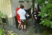Loggen samen met de Letse cachers op Viikinaari