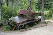 Tank bij Raate