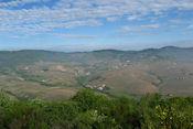 Uitzicht op de camping vanaf de top