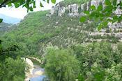 Uitzicht op Ardèche vanaf grot