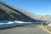 De laatste restjes sneeuw op 1600m