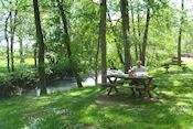 Picknickplek bij Le Pont Romain