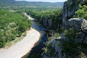 De Ardèche vanaf uitzichtpunt