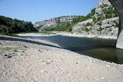 De rivier  bij Balazuc