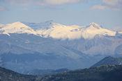 Uitzicht op de Franse Alpen