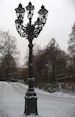 Oude gaslantaarns in Tiergarten