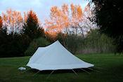 Avondrood op camping La Tuilerie