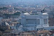 Uitzicht op Monument Victor Emanuel II