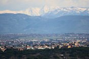 Uitzicht over Rome en Mount Sabini