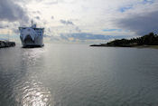 De boot naar  Åland