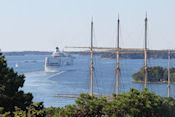 Cruiseschip vertrekt uit Mariehamn