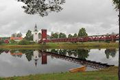 Hangbrug over Västerdaläven bij Dala Floda