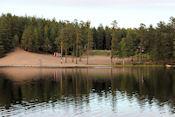 Uitzicht op camping Ölsjön
