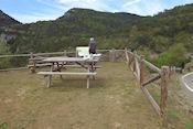 Picknickplek met uitzicht