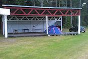 Zo kan het ook, overdekt kamperen