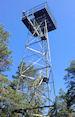 Uitzicht-/brandtoren in Naturreservat Kungshögshällar