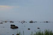 Opkomende mist uit zee