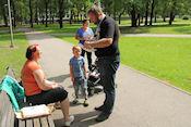 Rhesus family uit Noorwegen in Silent Garden