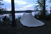 Avond op camping Rasua