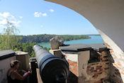 Uitzicht vanaf de ruïne