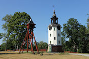 Bruksgatan i Harg - Molinska, klokkentoren bij een landhuis