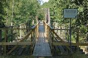 Drie oude spoorbruggen op rij bij Gysinge natuurreservaat