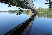 Oude spoorbrug bij Gysinge natuurreservaat
