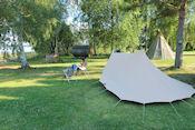 Camping Färnebofjärden bij Österfärnebrö
