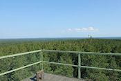 Uitzicht vanaf de toren in Naturreservat Kungshögshällar