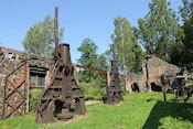 Een oud fabrieksterrein